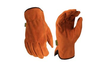 Stanley Mens Split Leather Cowhide Glove (Light Brown) (One Size)