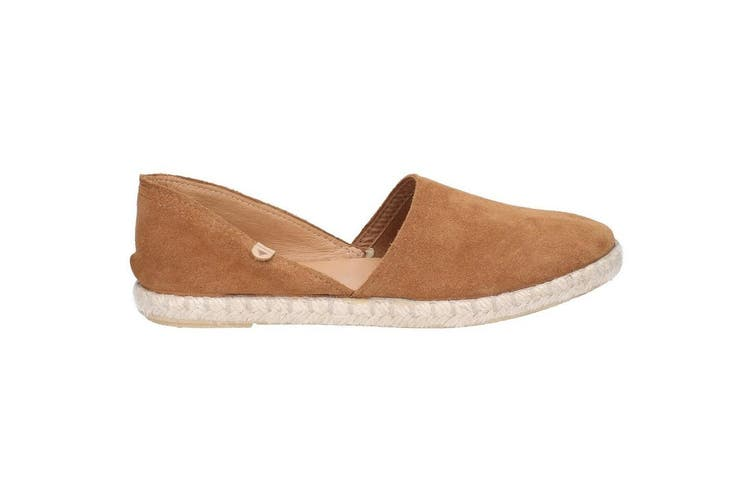 Hush Puppies Womens/Ladies Rosie Espadrille Slip On Leather Shoe (Tan) (3 UK)