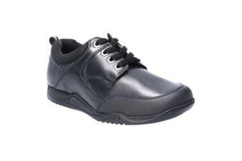 Hush Puppies Dexter Boys Junior Lace Up Leather School Shoe (Black) (13.5 UK Child)