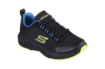 Skechers Boys Dynamic Tread-Nitrode Lightweight Lace Up Trainer (Black/Blue/Lime) (12.5 UK Child)