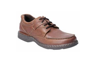 Hush Puppies Randall II Mens Leather Lace Up Shoe (Brown) (9 UK)