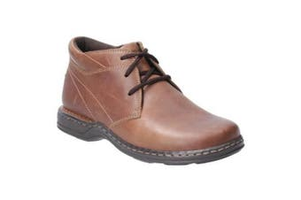 Hush Puppies Reggie Mens Lace Up Leather Shoe (Brown) (9 UK)