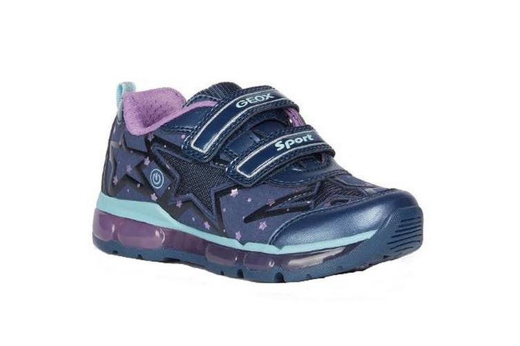 Geox Girls J Android B Touch Fastening Trainer (Navy/Purple) (11.5 UK Child)