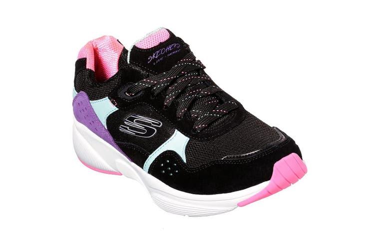 Skechers Womens/Ladies Meridian No Worries Lace Up Leather Trainer (Black) (4 UK)