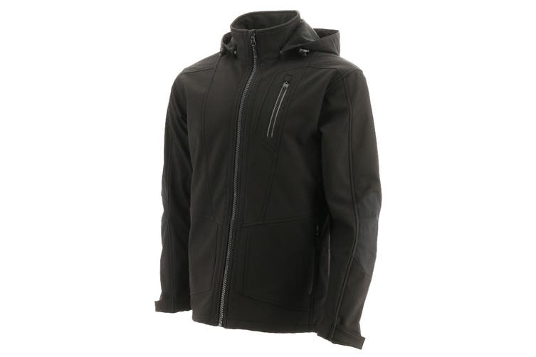 Caterpillar Mens Mercury Soft Shell Jacket (Black) (L)