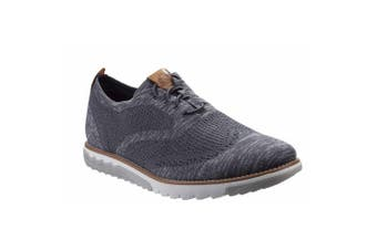 Hush Puppies Mens Expert Wingtip Bounce Plus Leather Tab Trainer (Dark Grey) (8 UK)