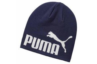 Puma Unisex Adults Big Cat Beanie Hat (Navy/White) (One Size)