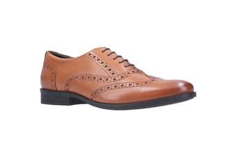 Hush Puppies Mens Oaken Brogue Lace Up Leather Shoe (Dark Brown) (12 UK)