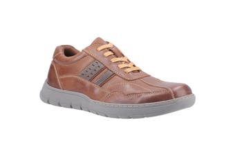 Fleet & Foster Mens Harrison Lace Up Leather Shoe (Brown) (9 UK)