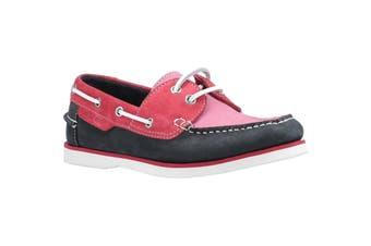 Hush Puppies Womens/Ladies Hattie Leather Boat Shoe (Pink/Navy) (7 UK)