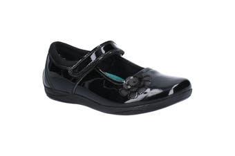 Hush Puppies Girls Jessica Patent Leather School Shoe (Black) (13.5 UK Child)