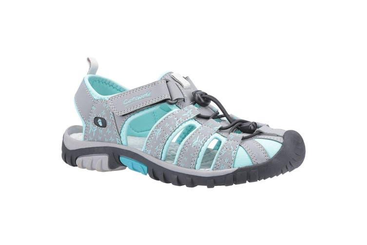 Cotswold Womens/Ladies Sandhurst Touch Fastening Sandal (Grey/Aqua) (5 UK)