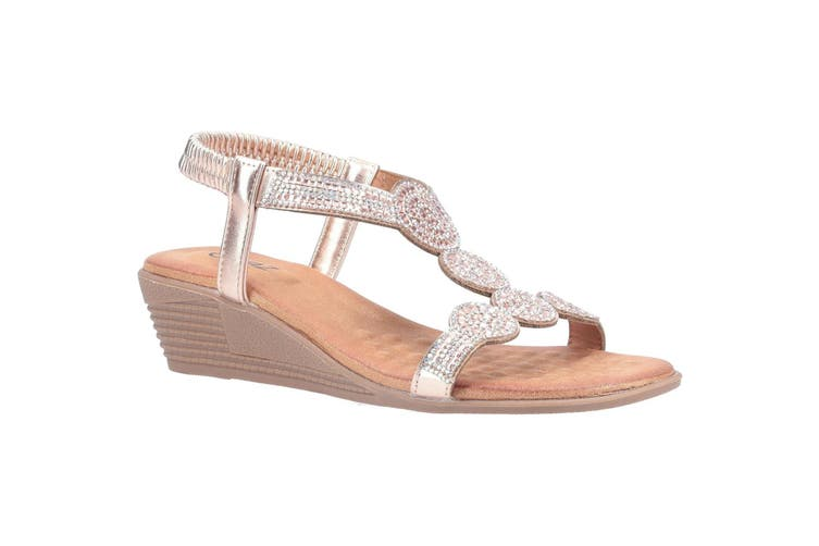 Divaz Womens/Ladies Sasha Slip On Sandal (Rose Gold) (5 UK)