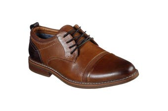 Skechers Mens Bregman Selone Leather Shoe (Tan) (9 UK)