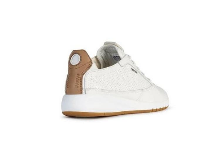 Geox Womens/Ladies D Aerantis A Lace Up Leather Trainer (White) (4 UK)