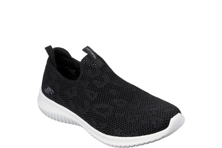Skechers Womens/Ladies Ultra Flex Fast Talker Sports Shoe (Black/White) (7 UK)
