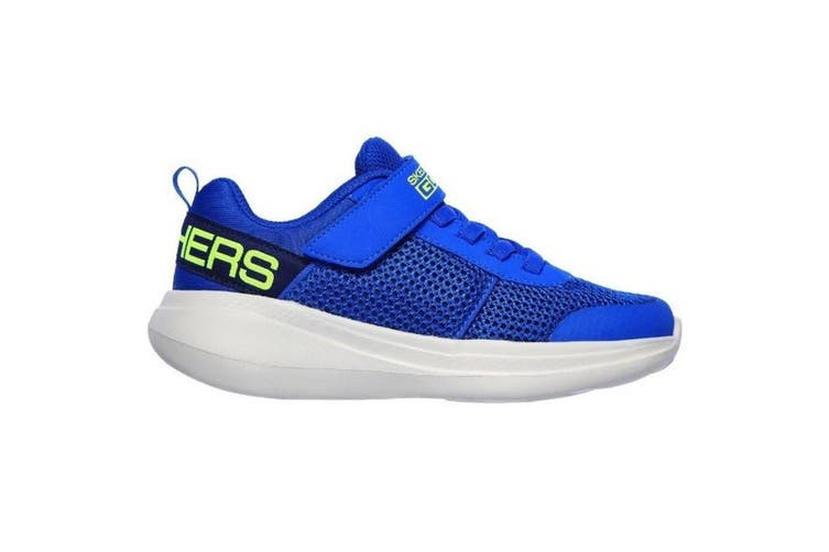 Skechers Boys Go Run Fast Sports Trainer (Blue/Lime) (2 UK)