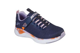 Skechers Girls Solar Fuse Paint Power Sports Shoe (Navy) (12.5 UK Child)