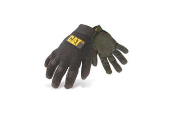 Caterpillar 12212 Lightweight Mechanic Gloves / Mens Gloves / Gloves (Black) (Large)
