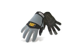 Caterpillar 12213 Neoprene Comfort Fit Gloves / Mens Gloves / Gloves (Black/Grey) (Large)