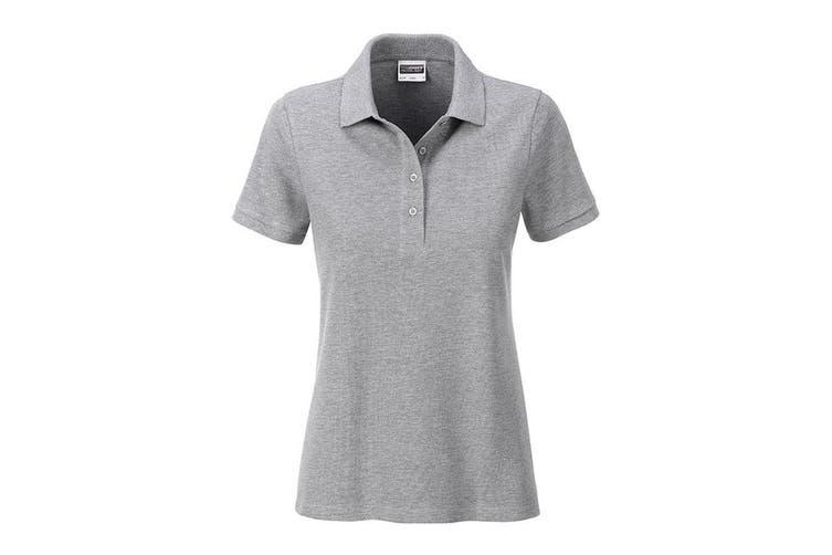 James and Nicholson Womens/Ladies Basic Polo (Grey Heather) (L)