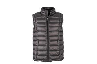 James and Nicholson Mens Quilted Down Vest (Black/Black) (3XL)