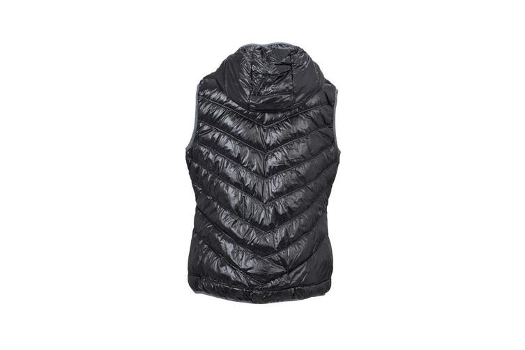 James and Nicholson Women/Ladies Down Vest (Black/Grey) (S)