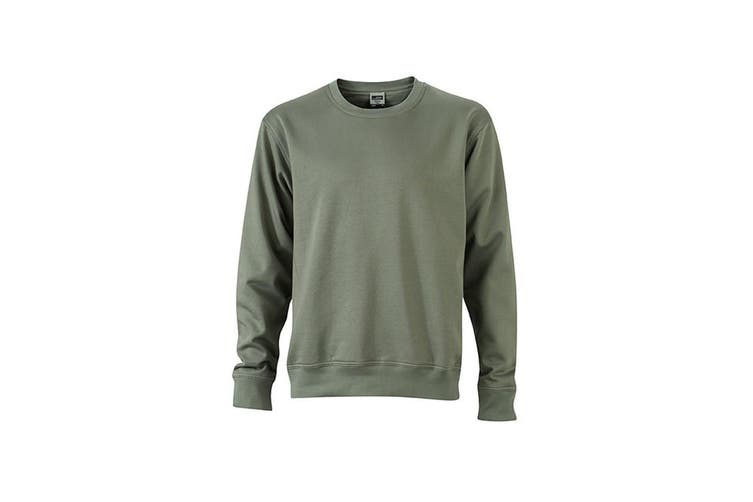 James and Nicholson Unisex Workwear Sweatshirt (Dark Grey) (XL)