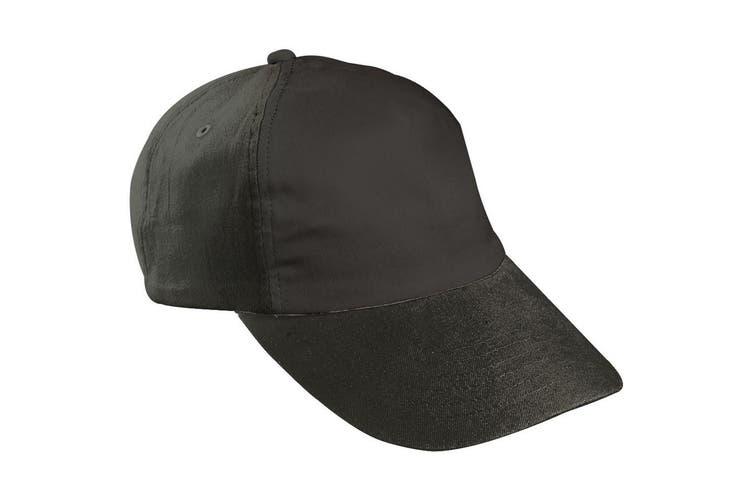 Myrtle Beach Childrens/Kids 5 Panel Cap (Black) (One Size)