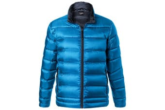James and Nicholson Mens Quilted Down Jacket (Blue/Navy) (XXL)
