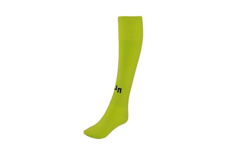 James and Nicholson Unisex Team Socks (Acid Yellow) (XL)