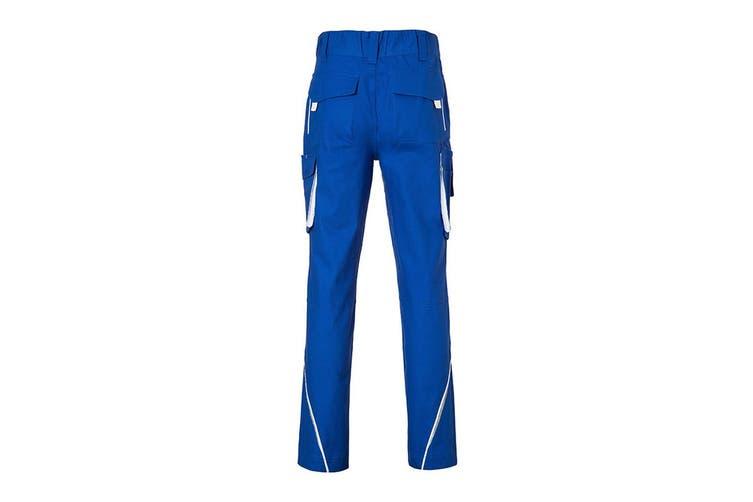 James and Nicholson Mens Level 2 Workwear Pants (Royal Blue/White) (44R)
