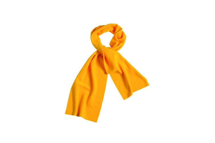 Myrtle Beach Adults Unisex Fleece Scarf (Gold Yellow) (One Size)