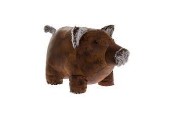 Faux Leather Doorstop (Piggy) (One Size)