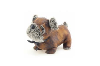 Faux Leather Doorstop (Brown Pug) (One Size)