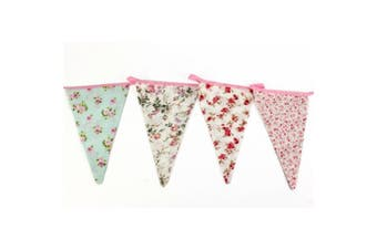 Vintage Floral Flag Banner Bunting (3 Metres) (Multicoloured) (One Size)