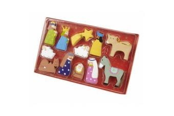 Wooden Nativity Decorations (Multicoloured) (One Size)