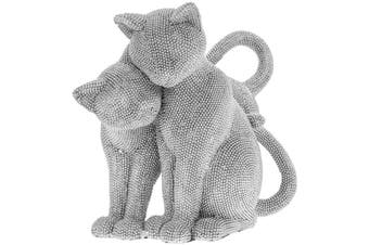 Cuddling Cats Figurine (Silver) (One Size)