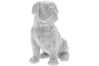 Sitting Pug Figurine (Silver)