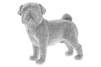 Standing Pug Figurine (Silver) (One Size)