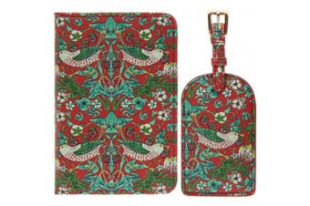Strawberry Thief Travel Set (Red) (One Size)