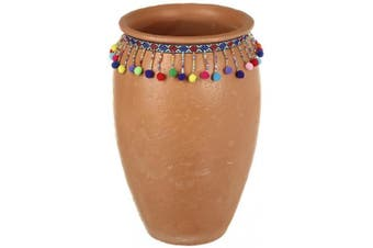 Tall Terracotta Pot (Brown) (26cm)