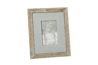 Wooden Block Frame (Brown/Grey) (One Size)