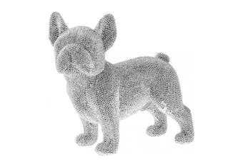 Beaded French Bulldog Decoration (Silver) (One Size)