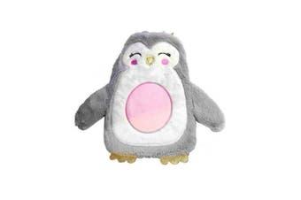 Christmas Penguin Hot Water Bottle With Crown (Silver) (One Size)