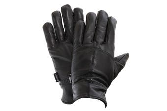 FLOSO Mens Thinsulate Lined Genuine Leather Gloves (3M 40g) (Black) - UTGL104