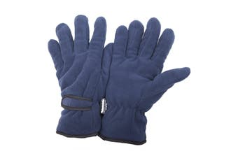 FLOSO Mens Thinsulate Winter Thermal Fleece Gloves (3M 40g) (Navy) - UTGL138