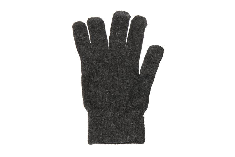 Mens Plain Magic Gloves With Wool (Grey) (One Size)