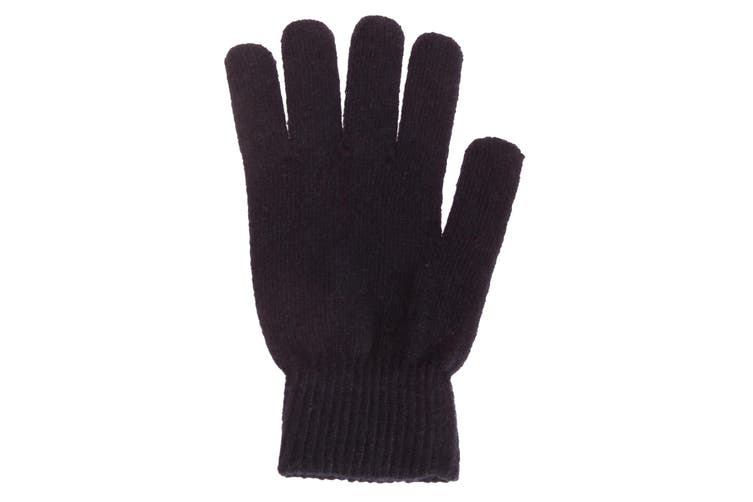 Mens Plain Magic Gloves With Wool (Navy) (One Size)