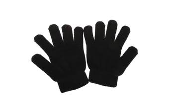 Mens Thermal Gloves With Elastane (brushed Inside) (Black) (One Size Fits All)